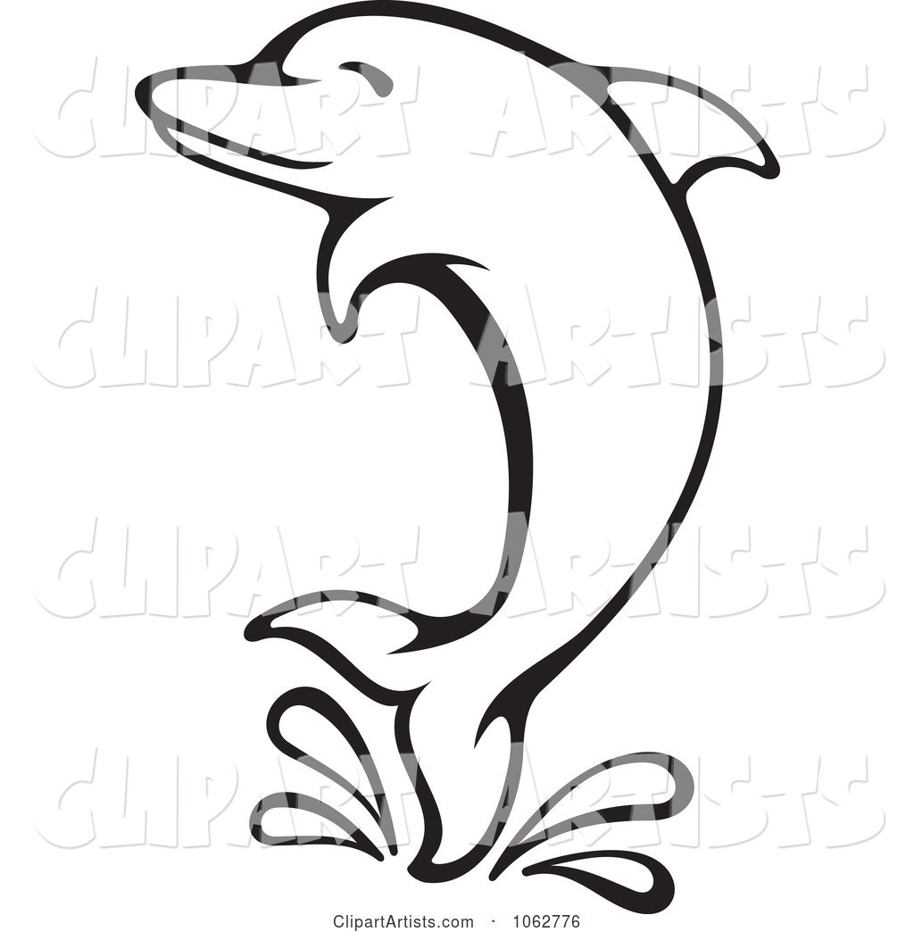 Free Dolphin Clipart Black And White Dolphin Black And White