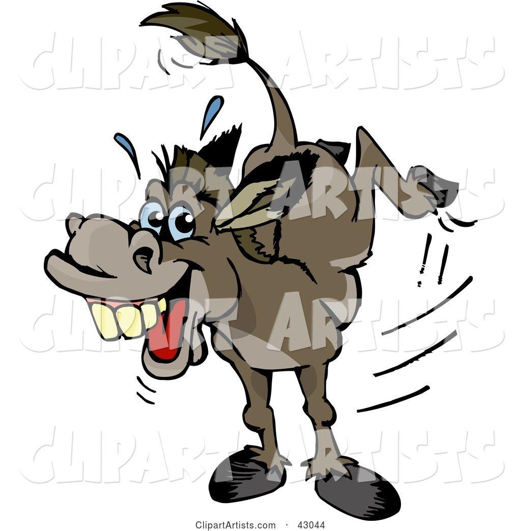 Donkey Kick Clipart Kicking Donkey