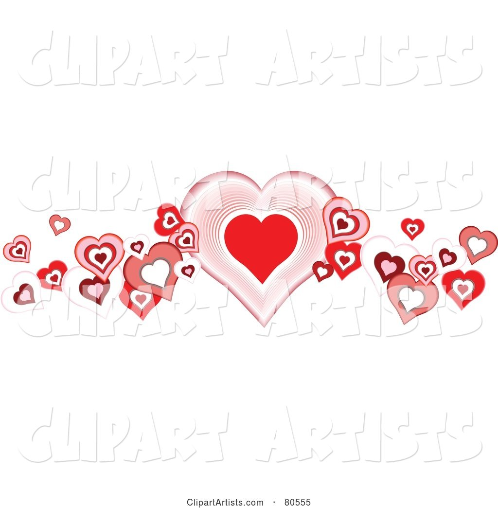 Vector heart border design
