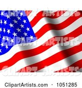 3d American Flag Clipart by ShazamImages