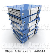 3d Binders Clipart by Franck Boston
