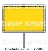 3d Blank Sign Clipart by Stockillustrations