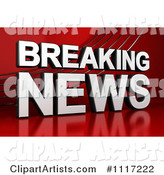 3d Breaking News Clipart by Stockillustrations