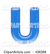3d Capital Blue Letter Clipart by Chrisroll