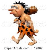 3d Caveman Clipart by Amy Vangsgard