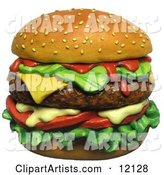 3d Cheeseburger Clipart by Amy Vangsgard