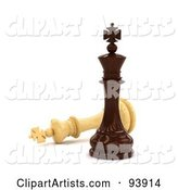 3d Chess Clipart by Stockillustrations