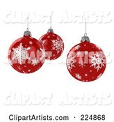 3d Christmas Bulb Clipart by Stockillustrations