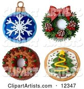 3d Christmas Clipart by Amy Vangsgard