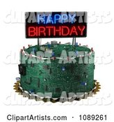 3d Circuit Board Clipart by Stockillustrations