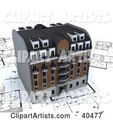 Apartment Building on Architectural Plans