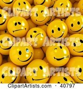 Background of Flirty, Sad and Happy Yellow Balls