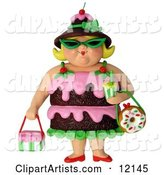 Chocolate Cake Woman Wearing Shades