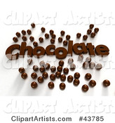 Chocolate Text Surrounded by Chocolate Candy Balls