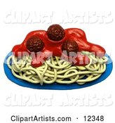 Clay Sculpture Spaghetti and Meatballs