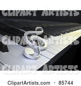 Clef Resting on Piano Keys