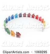 Colorful Homes in a Circle