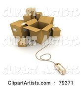 Computer Mouse and Cardboard Parcel Boxes - Version 1