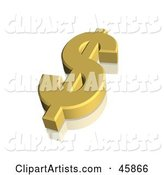 Gold Dollar Usd Currency Symbol