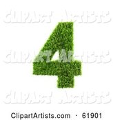 Green Grassy Number; 4