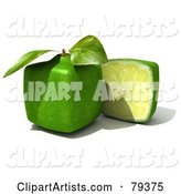 Half Cubic Genetically Modified Lime by a Whole Lime