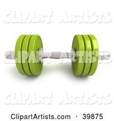 Lime Green and Chrome Free Weight