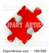 Metallic Red Jigsaw Puzzle Piece