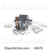 Model Modern Home with Chimneys, on Blueprints