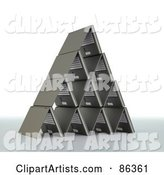 Pyramid Shaped of Laptops