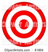 Red and White 5 Ring Bullseye Target