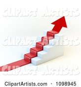 Red Arrow Climbing Stairs