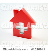 Red Medical Cross House