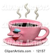 3d Coffee Clipart by Amy Vangsgard