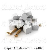 3d Collapsed Clipart by Stockillustrations