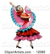3d Dancer Clipart by Amy Vangsgard