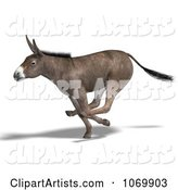 3d Donkey Clipart by Ralf61