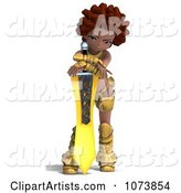 3d Female Knight Clipart by Ralf61