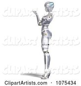 3d Female Robot Clipart by Ralf61