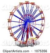 3d Ferris Wheel Clipart by Ralf61