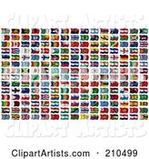 3d Flags Clipart by Stockillustrations