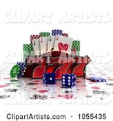 3d Gambling Clipart by Stockillustrations