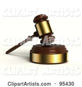 3d Gavel Clipart by Stockillustrations