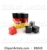 3d Germany Clipart by Stockillustrations