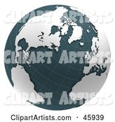 3d Globe Clipart by Chrisroll