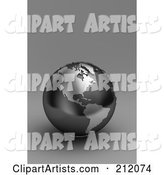 3d Globe Clipart by Stockillustrations