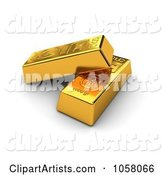 3d Gold Bar Clipart by Stockillustrations