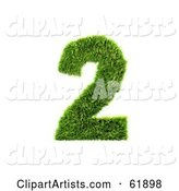 3d Grassy Number Clipart by Chrisroll