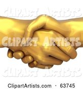 3d Handshake Clipart by Tonis Pan