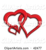 3d Heart Clipart by Stockillustrations