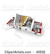 3d House Clipart by Franck Boston